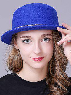 Braid Decorated Bowler Hat - Deep Blue