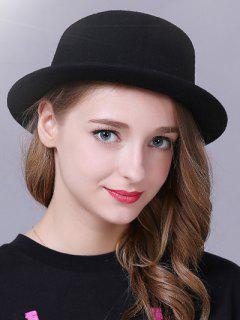 Braid Decorated Bowler Hat - Black