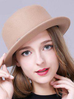 Braid Decorated Bowler Hat - Camel
