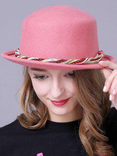 Braid Decorated Bowler Hat - Pink