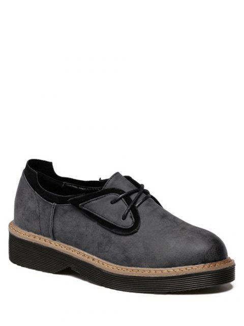 Splicing bout rond Tie Platform Up Chaussures - Noir 39 Mobile