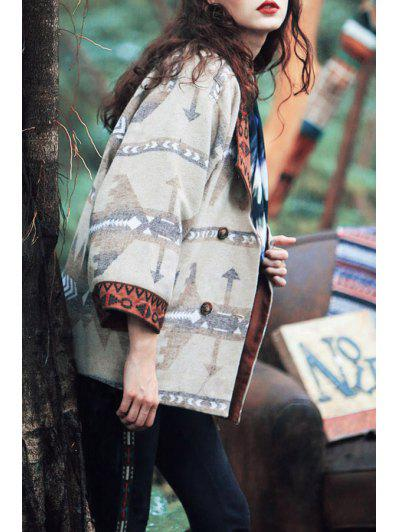 Embroidered Printed Coat