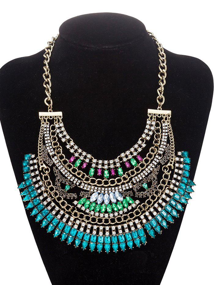 Rhinestoned creux Out Collier Bijoux