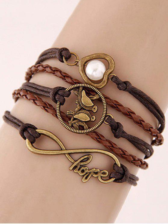 fashion Infinity Birdie Braided Bracelet - COLORMIX