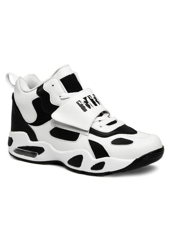 اثنين من لهجة عالية الأعلى أحذية رياضية - أبيض 40