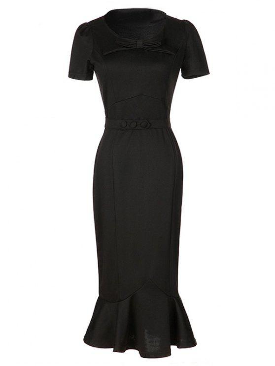 بونوت حورية البحر الرسمي فستان كوكتيل - أسود 2XL