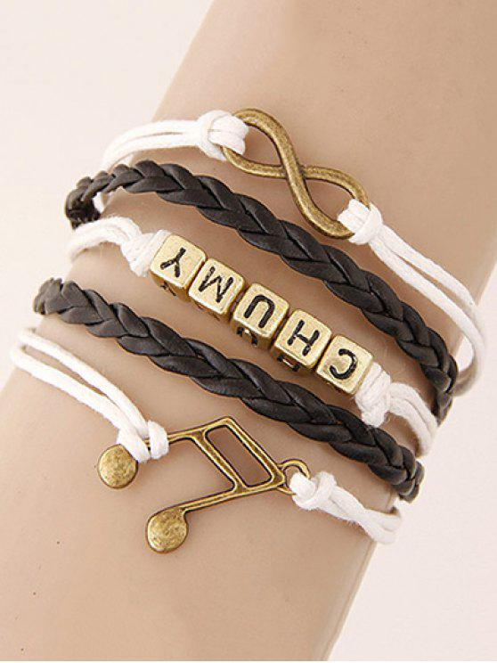 Musical Note Infinity Letters Braided Bracelet