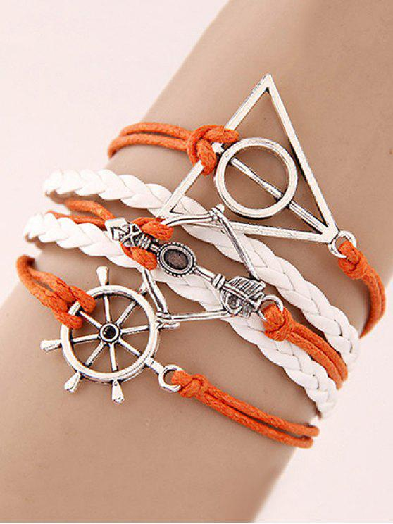 Rudder Triangle Tressé Bracelet - Multicolore
