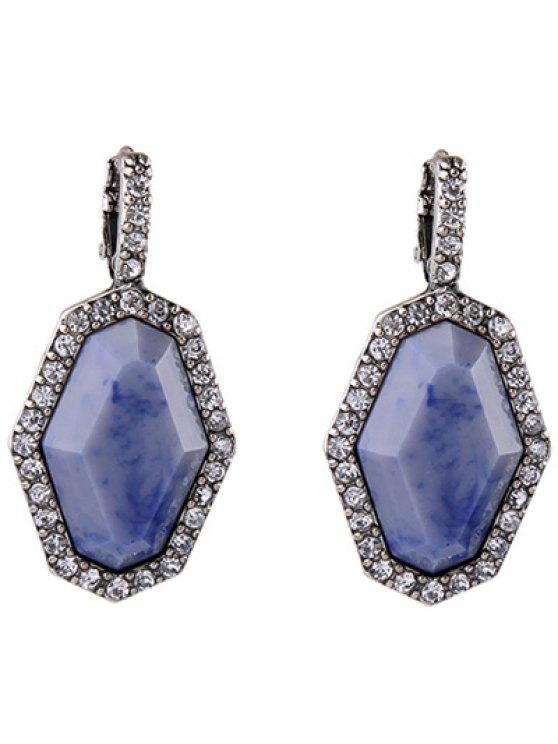 women's Rhinestoned Geometric Earrings - SILVER