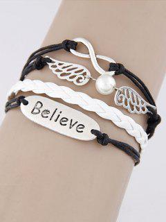 Bracelet Tressé Avec Ailes