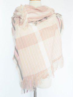 Stripe Fringed Pashmina - Pink