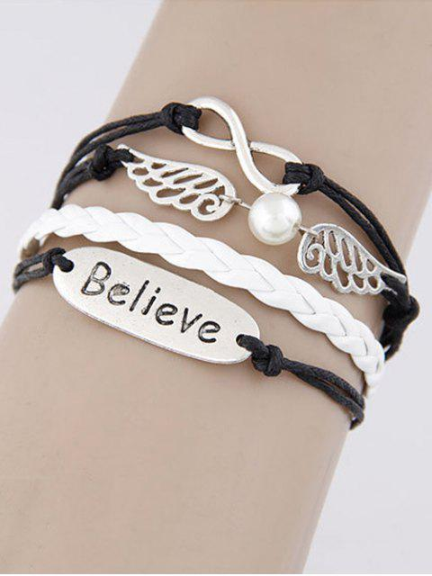 chic Wings Infinity Strand Bracelet -   Mobile