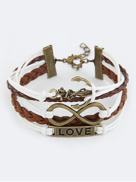 fashion Anchor Infinity Strand Bracelet - COLORMIX  Mobile