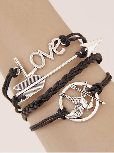 outfits Arrow Irenidae Braided Bracelet - BLACK  Mobile