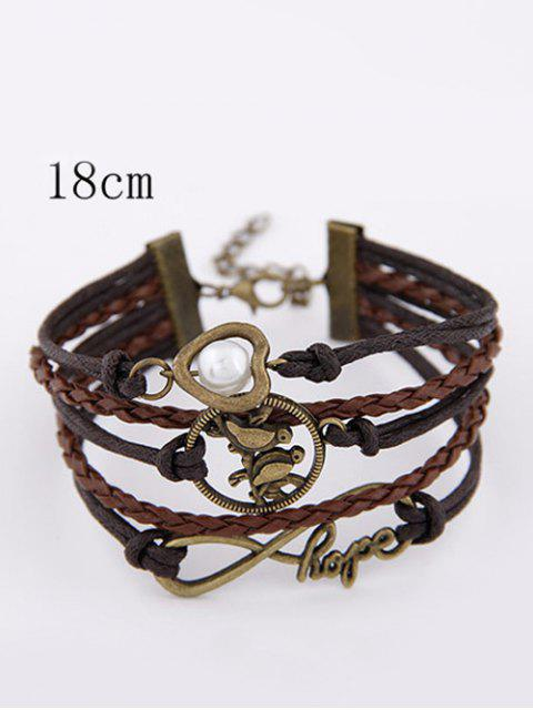 fashion Infinity Birdie Braided Bracelet - COLORMIX  Mobile