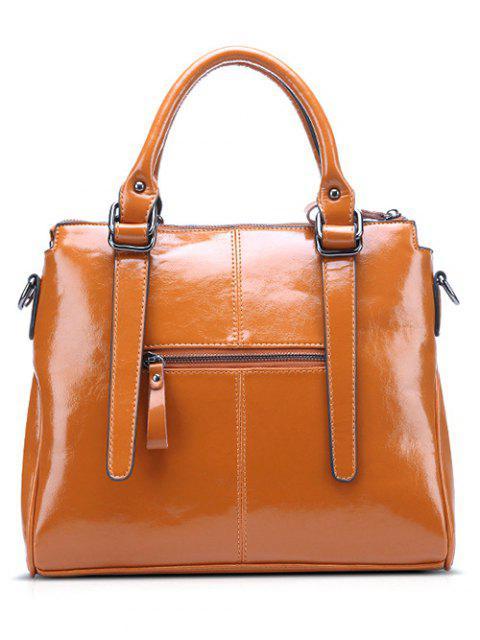ladies Straps Solid Colour Tote Bag -   Mobile