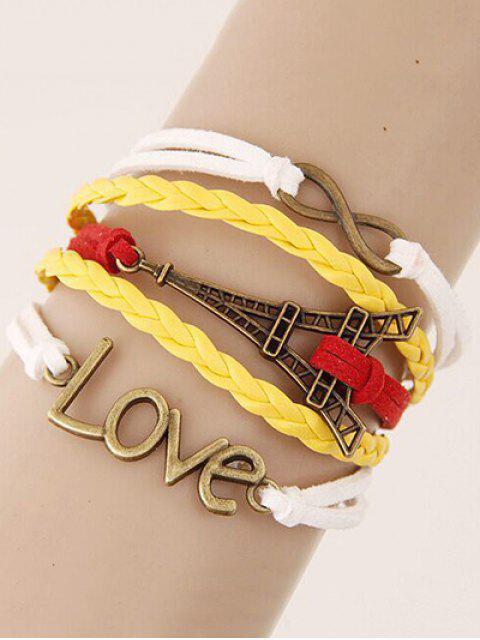women Eiffel Tower Love Braided Bracelet - COLORMIX  Mobile