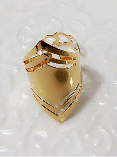 shops Cut Out Heart Geometric Ring Set - PLATINUM  Mobile