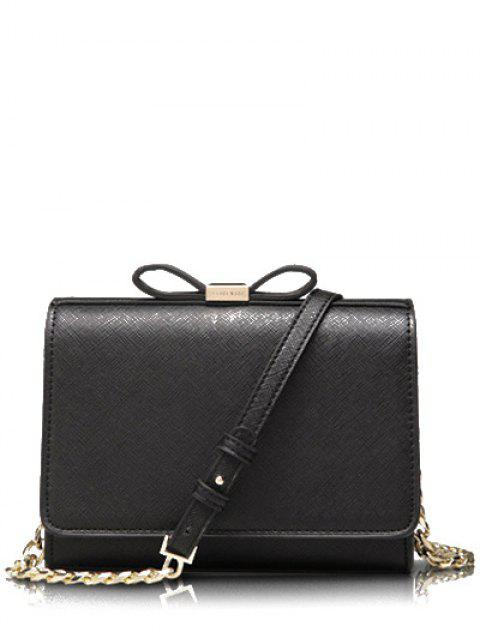 Bowknot Solid Color Crossbody Tasche - Schwarz  Mobile
