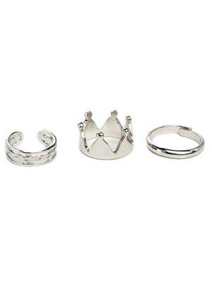 Crown Ring Set - Silver