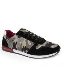 أزياء الربط والتمويه نمط تصميم أحذية رياضية للرجال - أسود 40