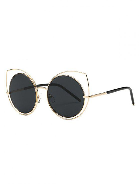 unique Hollow Out Cat Eye Sunglasses - GOLDEN