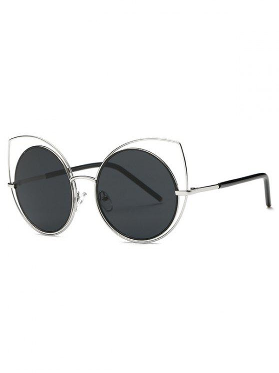 sale Hollow Out Cat Eye Sunglasses - SILVER