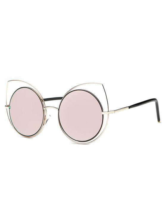 Ahueca hacia fuera del ojo de gato gafas de sol de espejo - Rosa
