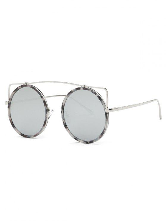 d522afc1dd 18% OFF  2019 Crossbar Round Marble Sunglasses In SILVER