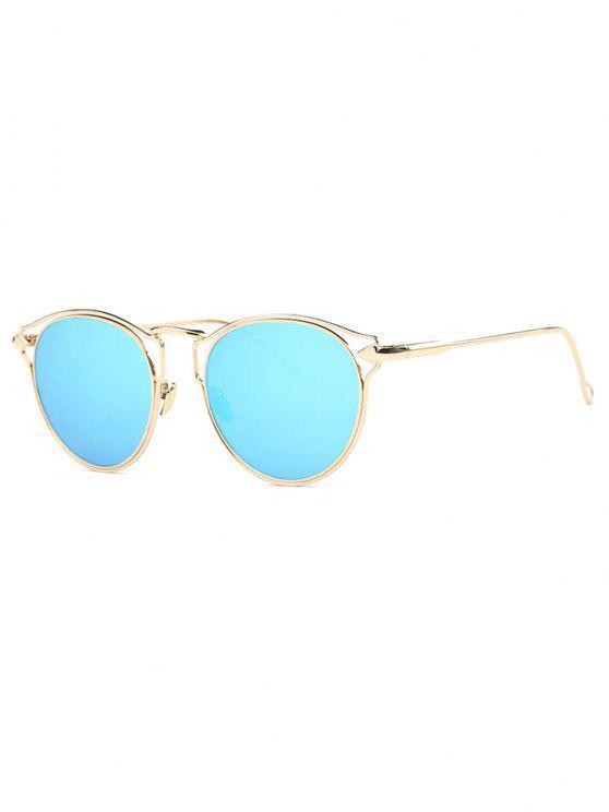 Gafas de Sol Especular con Marco de Flecha con Ojo de Gato - Azul Claro