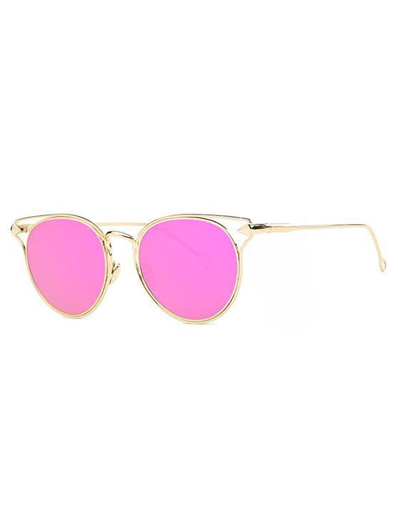 latest Arrow Cat Eye Mirrored Sunglasses - ROSE