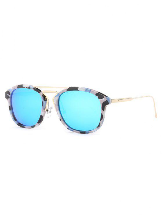La geometría de la nariz de puente del camuflaje gafas de sol - Azul