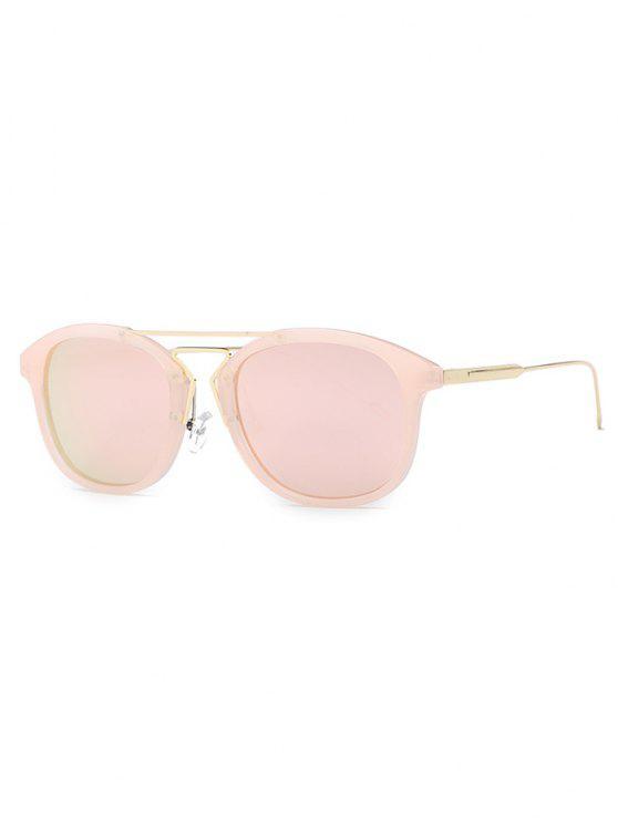 unique Geometry Nose Bridge Pink Sunglasses - PINK