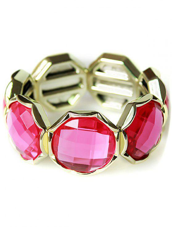 Pulsera de cristal de imitación de punk - Rosa Roja