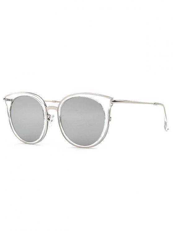 Transparent Cat Eye verspiegelten Sonnenbrillen - Hellgrau