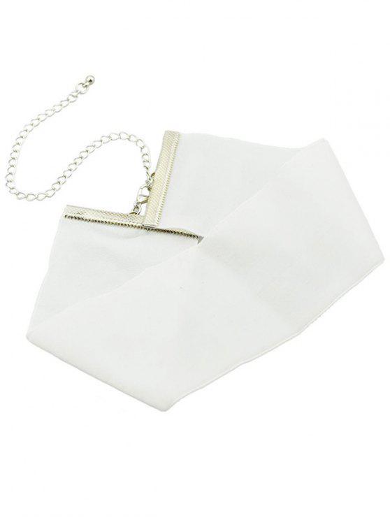 Gargantilla de terciopelo - Blanco