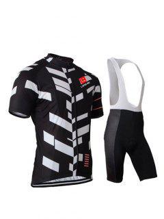Bike + Manches Courtes Couleur Blocks Active Noir Cuissard Maillots Twinset For Men - Noir S
