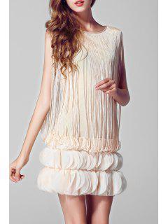Short Flapper Dress - Apricot