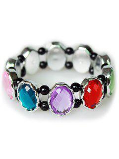 Faux Crystal Bead Bracelet