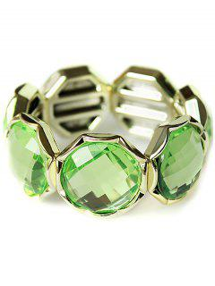 Punk Faux Crystal Bracelet - Green