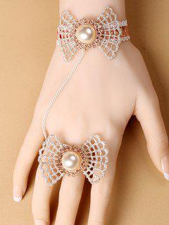 Bow Lace Bracelet With Ring