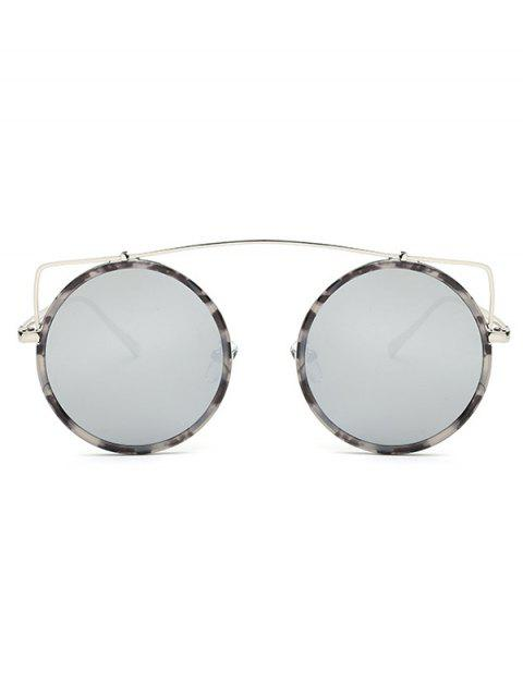 women's Crossbar Round Marble Sunglasses -   Mobile