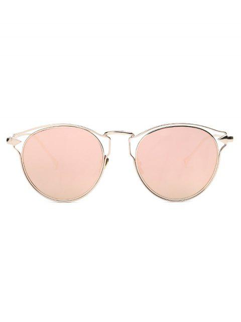 outfits Arrow Cat Eye Mirrored Sunglasses - PINK  Mobile