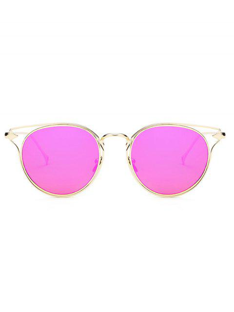 latest Arrow Cat Eye Mirrored Sunglasses - ROSE  Mobile