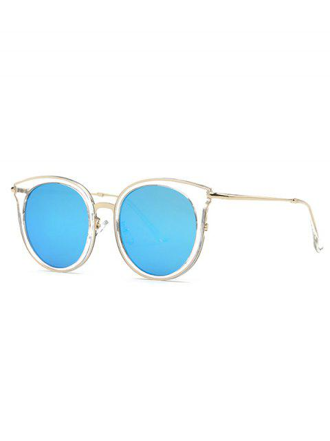 women's Transparent Cat Eye Mirrored Sunglasses - LIGHT BLUE  Mobile