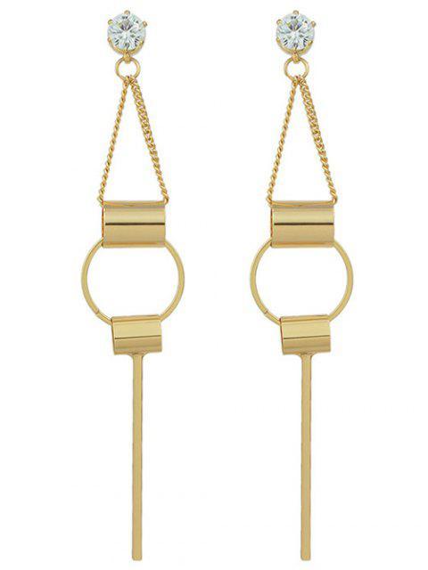 Strass Geometrische Ohrringe - Golden  Mobile