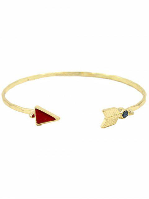 outfits Arrow Triangle Cuff Bracelet - GOLDEN  Mobile