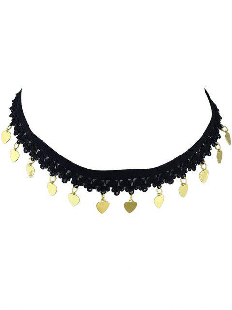 Coeur Paillettes Choker - Or  Mobile