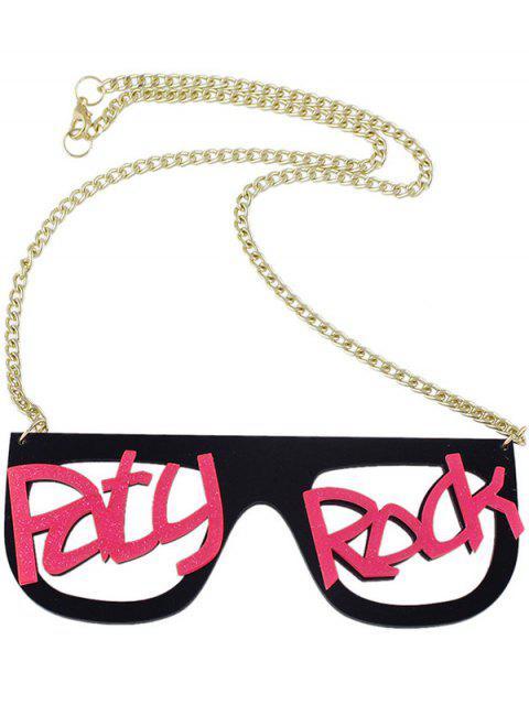 Collar reloj pendiente de la roca letras - Rosa Brillante  Mobile