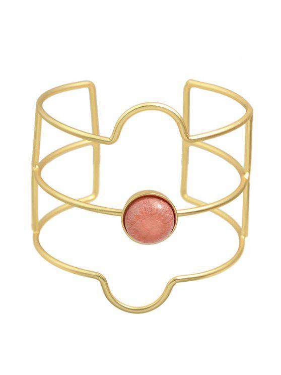 hot Layered Faux Gem Cuff Bracelet - GOLDEN